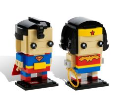 LEGO Comic-Con Brickheadz 41490 Superman and Wonder Woman