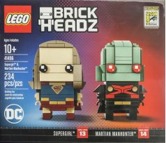 LEGO Comic-Con Brickheadz 41496 Super Girl and Martian Manhunter