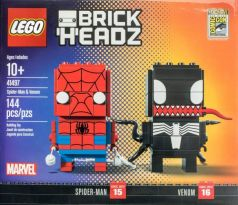LEGO Comic-Con Brickheadz 41497 Spider-Man and Venom