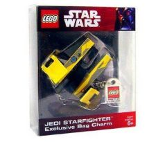 LEGO 852247Jedi Starfighter Key Chain with Lego Logo Tile- (Exclusive Bag Charm)