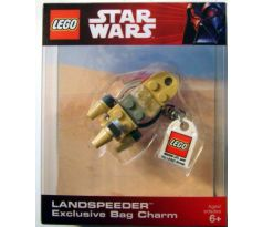 LEGO 852245 Landspeeder Key Chain with Lego Logo Tile-(Exclusive Bag Charm)