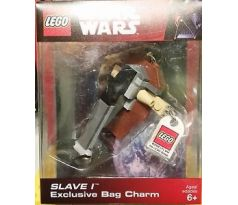LEGO 852246 Slave I Key Chain with Lego Logo Tile-(Exclusive Bag Charm)