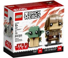 LEGO (41627) Luke Skywalker & Yoda- Brickheadz
