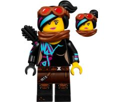 LEGO (70840) Lucy Wyldstyle with Black Quiver, Reddish Brown Scarf and Goggles, Smile / Angry The Lego Movie 2