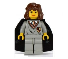 LEGO (4709) Hermione Granger, Gryffindor Shield Torso, Light Gray Legs, Black Cape with Stars - Harry Potter: Sorcerer's Stone