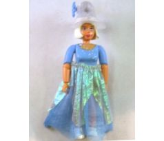 LEGO (5852) Belville Female - Stella, Medium Blue Top with Silver Stars, White Hair, Skirt Long, Hat with Flower