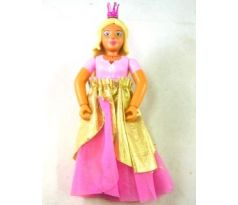 LEGO (7578) Belville Female - Princess - Pink Top, Yellow Hair, Dark Pink Shoes, Skirt Long, Crown
