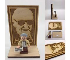 LEGO Stan Lee Minifigure and Plaque- Custom