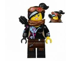 LEGO (70831) Lucy Wyldstyle with Black Quiver, Reddish Brown Scarf and Goggles, Open Mouth Smile / Angry-  The LEGO Movie 2