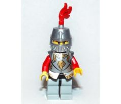 LEGO (853373) Kingdoms - Lion Knight Armor, Helmet Closed, Eyebrows and Goatee (Chess Bishop)