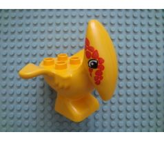 DUPLO (5598) Dinosaur Pteranodon Adult with Orange Spots around Eyes Pattern
