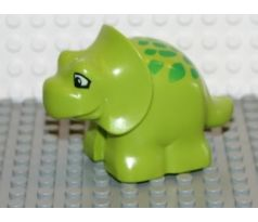 DUPLO (5598) Dinosaur Triceratops Baby with Green Spots Pattern