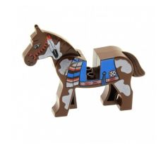 LEGO (6748)Horse with Blue Blanket, Right Side Red Circle Pattern- Western