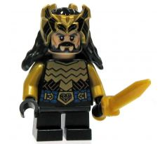 LEGO (79017) Thorin Oakenshield - Gold Armor and Crown - Silver Buckle and Shirt Grommets- The Hobbit and the Lord of the Rings: The Hobbit