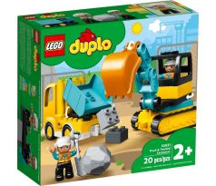 LEGO DUPLO 10931 Truck & Tracked Excavator - Duplo, Town: Construction