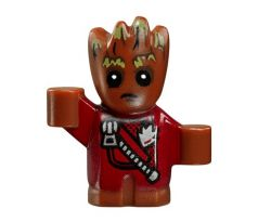 LEGO (76080) Groot - Baby, Red Outfit with Zipper - Jet Pack- Super Heroes: Guardians of the Galaxy Vol.2
