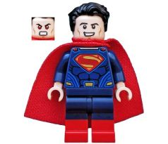 LEGO (76046) Superman - Dark Blue Suit, Tousled Hair, Red Boots - Super Heroes: Dawn of Justice