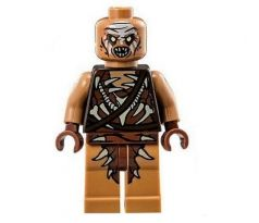 LEGO (79017) Gundabad Orc - Bald, White Forehead Paint - Silver Buckle and Shirt Grommets- The Hobbit and the Lord of the Rings: The Hobbit