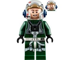 LEGO (75275) Rebel Pilot A-wing (Open Helmet, Dark Green Jumpsuit, Smile / Scared) (Arvel Crynyd)