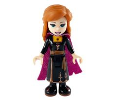 LEGO (41164) Anna - Black Dress, Magenta and Dark Purple Cape - Disney: Frozen II